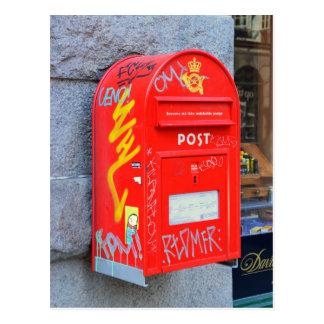 Buzón en Copenhague, Dinamarca Tarjeta Postal