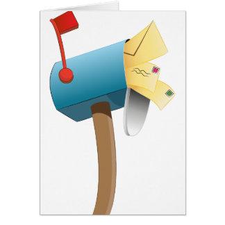 Buzón relleno letra del sobre tarjeta de felicitación