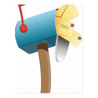 Buzón relleno letra del sobre tarjeta postal