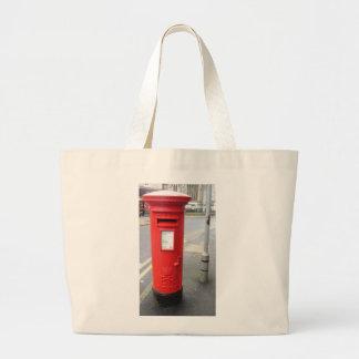 Buzón rojo británico bolsa tela grande