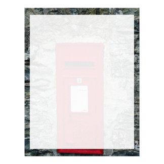 buzón rojo montado en la pared membrete a diseño