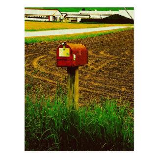 Buzón rural de la ruta tarjetas postales