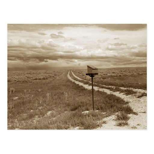 Buzón solo en Wyoming Tarjetas Postales