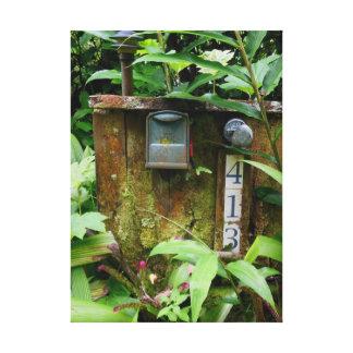 Buzón tropical impresiones de lienzo