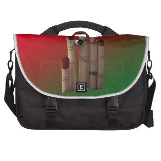 buzón único con el fondo bolsas para portatil