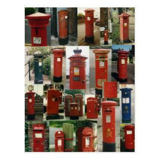 Buzones de correos británicos tarjeta postal