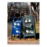 buzones del amor: corazón i usted postales