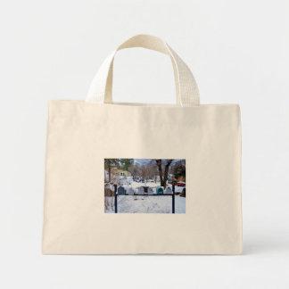 Buzones del país en la nieve bolsa de mano