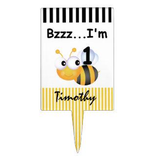 Buzz Bee 1st Birthday Cake Topper