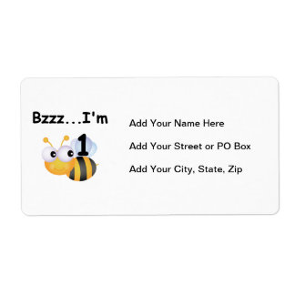 Buzz Bumblebee 1st Birthday T-shirts and Gifts Label