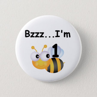 Buzz Bumblebee 1st Birthday T-shirts and Gifts Pinback Button