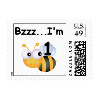 Buzz Bumblebee 1st Birthday T-shirts and Gifts Postage Stamp