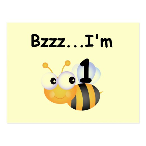 Buzz Bumblebee 1st Birthday T-shirts and Gifts Postcards