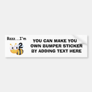 Buzz Bumblebee 2nd Birthday T-shirts and Gifts Bumper Sticker
