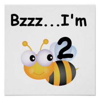 Buzz Bumblebee 2nd Birthday T-shirts and Gifts Poster