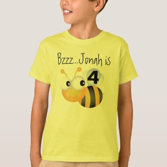 Buzz Bumblebee Customizable Birthday T-shirt