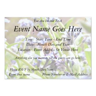 Buzz!  Busy Bee Backside 5x7 Paper Invitation Card