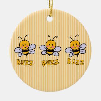 Buzz Buzz Bee Ceramic Ornament
