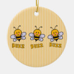 Buzz Buzz Bee Christmas Tree Ornaments