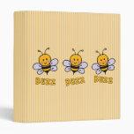 Buzz Buzz Bee Vinyl Binder