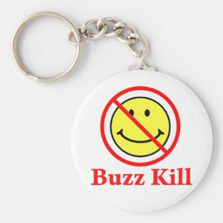 Buzz Kill Basic Round Button Keychain
