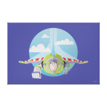 Buzz Lightyear Flying Despeckled Retro Graphic Canvas Print
