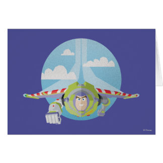 Buzz Lightyear Flying Despeckled Retro Graphic Card