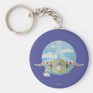 Buzz Lightyear Flying Despeckled Retro Graphic Keychain