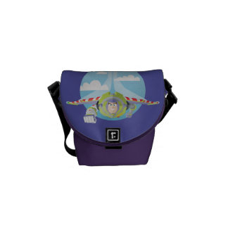 Buzz Lightyear Flying Despeckled Retro Graphic Messenger Bag