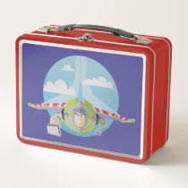 Buzz Lightyear Flying Despeckled Retro Graphic Metal Lunch Box