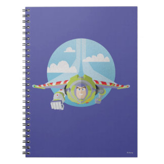 Buzz Lightyear Flying Despeckled Retro Graphic Notebook