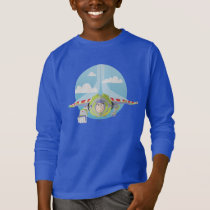 Buzz Lightyear Flying Despeckled Retro Graphic T-Shirt