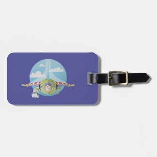 Buzz Lightyear Flying Despeckled Retro Graphic Tag For Luggage