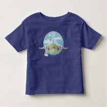 Buzz Lightyear Flying Despeckled Retro Graphic Toddler T-shirt