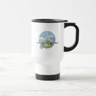 Buzz Lightyear Flying Despeckled Retro Graphic Travel Mug