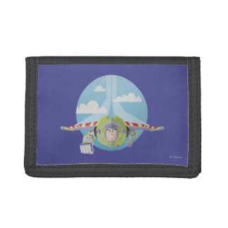 Buzz Lightyear Flying Despeckled Retro Graphic Trifold Wallet