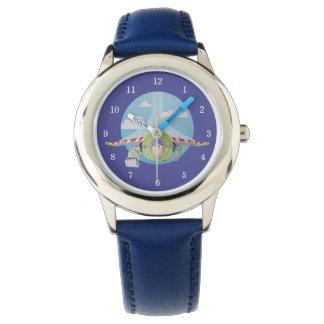 Buzz Lightyear Flying Despeckled Retro Graphic Wrist Watch