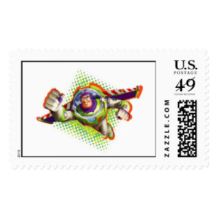 Buzz Lightyear Flying Postage Stamps