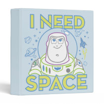 "Buzz Lightyear ""I Need Space"" 3 Ring Binder"