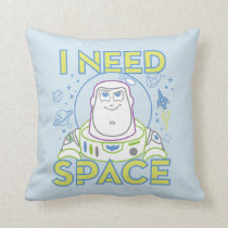 "Buzz Lightyear ""I Need Space"" Throw Pillow"