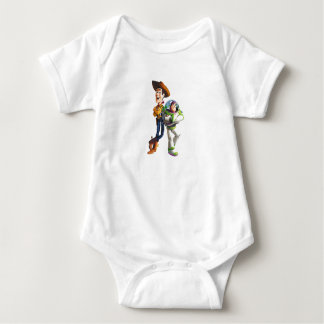 Buzz Lightyear & Woody standing back to back Baby Bodysuit