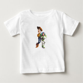 Buzz Lightyear & Woody standing back to back Baby T-Shirt