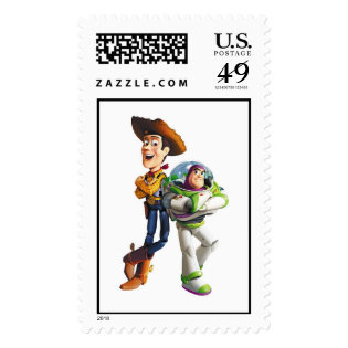 Buzz Lightyear & Woody standing back to back Postage Stamp