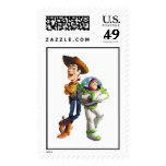Buzz Lightyear & Woody standing back to back Stamp