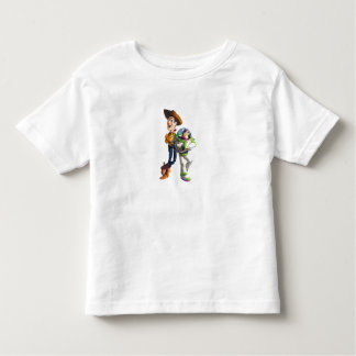 Buzz Lightyear & Woody standing back to back Toddler T-shirt