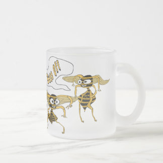 Buzz Off Frosted Glass Coffee Mug