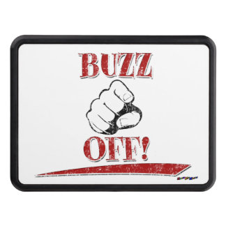 Buzz Off! - red Trailer Hitch Cover