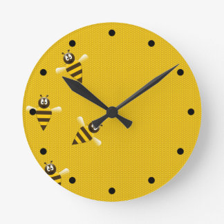 Buzz Time Round Clock