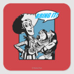 Buzz & Woody: Bring It Square Sticker