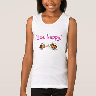 BuzzAboutBees 'Bee Happy' Girls' vest top